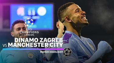 Berita Video Highlights Liga Champions, Dinamo Zagreb Vs Manchester City 1-4