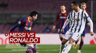 Berita video, momen Cristiano Ronaldo berhasil merebut bola dari Lionel Messi