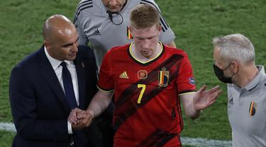 Foto Piala Eropa: Tekuk Lutut Juara Bertahan Portugal di Laga 16 Besar Euro 2020, Belgia Melenggang ke Perempatfinal