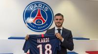 Mauro Icardi bergabung ke PSG sebagai pemain pinjaman dari Inter Milan. (Twitter PSG)