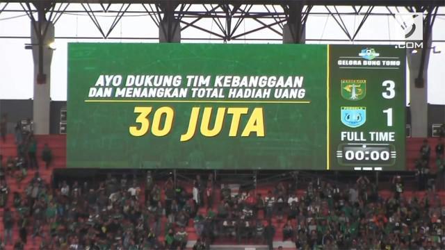 Persebaya Surabaya berhasil melibas Persela Lamongan 3-1 dalam pertandingan Liga 1 2018. Persebaya memimpin sejak awal pertandingan hingga akhir.