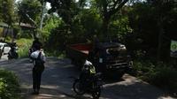 Jalan Pawiyatan Luhur di kawasan Kecamatan Gajahmungkur Semarang selalu ambles meski sudah diperbaiki terus menerus. (foto: Liputan6.com/humas pemkot semarang/ felek wahyu)