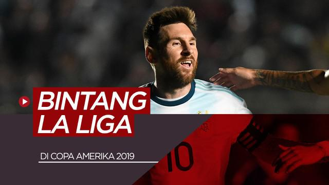 Berita video pemain bintang La Liga yang berlaga di Copa America 2019.