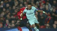 Manchester United bermain imbang 2-2 melawan Arsenal di Old Trafford. (AP Photo/Dave Thompson)