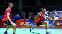 Penampilan Fajar Alfian/Muhammad Rian Ardianto di Kejuaraan Bulutangkis Asia Beregu 2020, Rabu (12/2/2020). (PBSI)