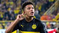 7. Jadon Sancho (Borussia Dortmund) - Penampilan gemilang bersama Die Borussen membuat pria asal Inggris layak menjadi rebutan klub besar. OVR 84 - 92. (AFP/Guido Kirchner)