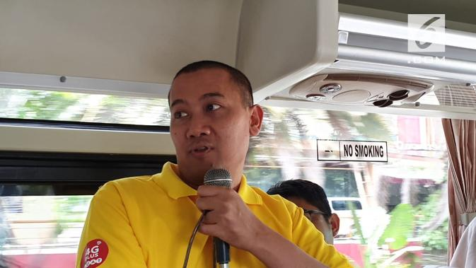 Kusmanto selaku Group Head Network Strategic Solution Indosat Ooredoo. (Liputan6.com/ Jeko I.R.)