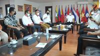 LPDUK Kemenpora bertemu Ketua KONI Pusat, Letjen. TNI (Purn) Marciano Norman (istimewa)