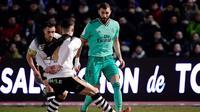 Unionistas of Salamanca saat menjamu Real Madrid di Stadion Pistas del Helmantico pada babak 32 besar Copa del Rey 2019/2020, Kamis dini hari WIB (23/1/2020). Dalam duel ini, Real Madrid menang 3-1. (AFP)