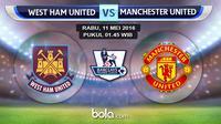 West Ham United vs Manchester United (bola.com/Rudi Riana)