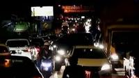 Arus lalu lintas di kawasan Puncak Bogor macet pada Jumat malam, 23 Desember 2016.
