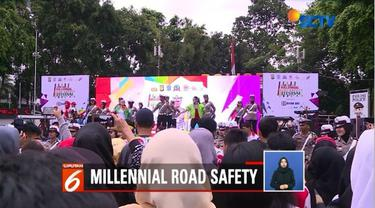 Polda Metro Jaya gelar acara Millenial Road Safety Festival untuk meminimalisasi angka kecelakaan saat berlalu lintas.