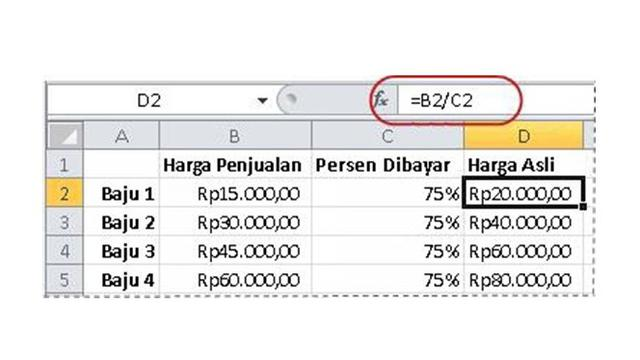 Cara Menghitung Persen Di Excel Mudah Dipraktikkan Tekno