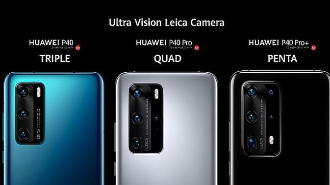 Seri Huawei P40 (screenshot via @HuaweiMobile)