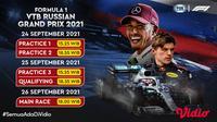 Jadwal dan Live Streaming F1 Rusia 2021 di Vidio, 24-26 September 2021. (Sumber : dok. vidio.com)