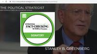 Cek Fakta - Ahli Strategi Politik AS Stanley Greenberg  ( www.political-strategist.com)