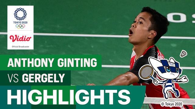 Berita video highlights kemenangan Anthony Ginting atas wakil dari Hungaria di Grup J Olimpiade Tokyo 2020, Minggu (25/7/2021) siang hari WIB.
