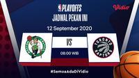 Live streaming NBA Boston Celtics vs Toronto Raptors di Vidio. (Foto: Vidio)