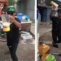 penjual es jadi viral (foto: instagram/@makassar_iinfo )