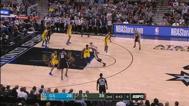 Berita video game recap NBA 2017-2018 antara San Antonio Spurs melawan Golden State Warriros dengan skor 89-75.