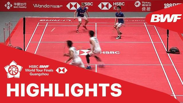 Berita video match highlights BWF World Tour Finals 2019 antara Takeshi Kamura / Keigo Sonoda melawan Minions (Marcus Gideon / Kevin Sanjaya).