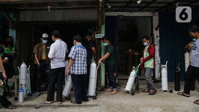Imbas kasus COVID-19 Melonjak, Permintaan Pengisian Tabung Oksigen Meningkat