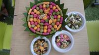 Pempek Pelangi Palembang rasa buah dan sayur (Liputan6.com / Nefri Inge)