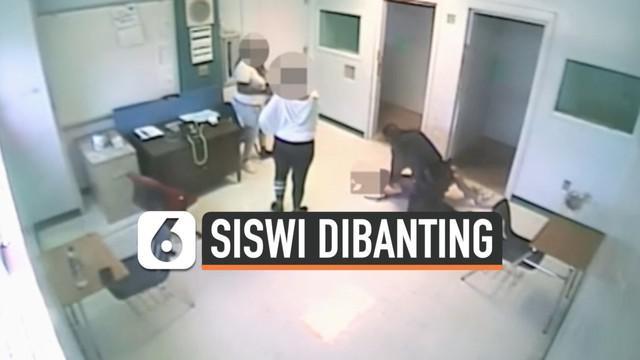 Seorang polisi mengamuk ketika tengah bertugas di sekolah khusus anak dengan gangguan emosi dan perilaku yang berada di Florida, AS. Polisi tersebut membanting seorang siswi berusia 15 tahun ke lantai lantaran siswi usil.