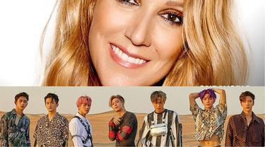 Celine Dion dan SuperM (Instagram/ celinedion dan superm)