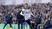 Gelandang Tottenham Hotspur, Christian Eriksen, menjadi salah satu pemain paling konsisten di Liga Inggris. (AP Photo/Matt Dunham)
