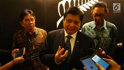 Menteri Perindustrian RI, Airlangga Hartarto usai membuka New Zealand Tech Day 2018 di Jakarta, Kamis (4/10). New Zealand Tech Day 2018  diselenggarakan dalam rangkaian perayaan 60 tahun hubungan bilateral Selandia Baru dan Indonesia. (Foto:Istimewa)