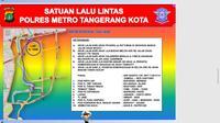Calon Presiden nomor urut 01, Joko Widodo rencananya karnaval di wilayah Kota Tangerang pada Minggu (7/4/2019) siang. Karnaval tersebut, dimulai dari lapangan Ahmad Yani hingga ke Jalan Kisamaun, Kota Tangerang. (Liputan6.com/Pramitha)