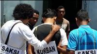 Penyidik Polres Lembata menggelar reka ulang kasus pembunuhan, Paty Leu, warga binaan Lembaga Pemasyarakatan Kabupaten Lembata, Nusa Tenggara Timur (NTT).