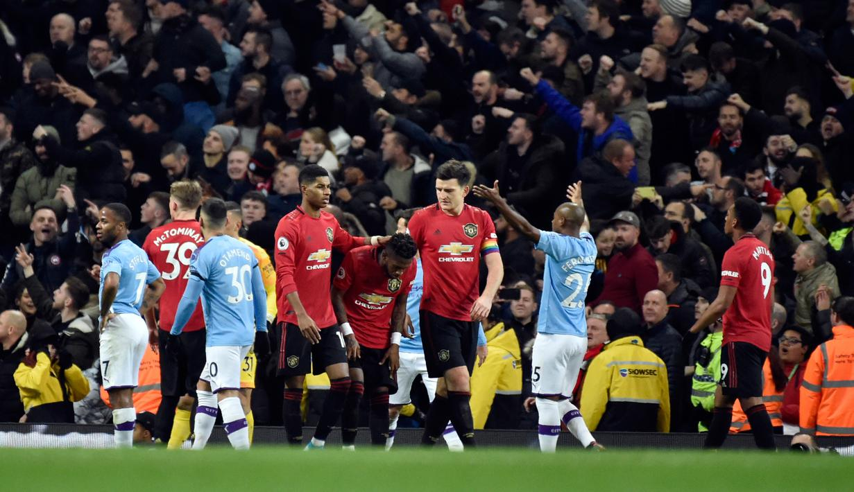 FOTO MU Bungkam Manchester City 2 1 Di Etihad Stadium