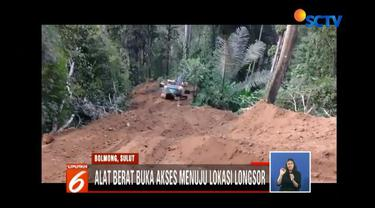 Kesulitan evakuasi korban tambang emas liar di Bolaang Mongondow, Sulawesi Utara, tim SAR putuskan buka akses jalan.