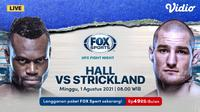 Link Live Streaming UFC Fight Night : Hall vs Strickland di Vidio, Minggu 1 Agustus 2021. (Sumber : dok. vidio.com)