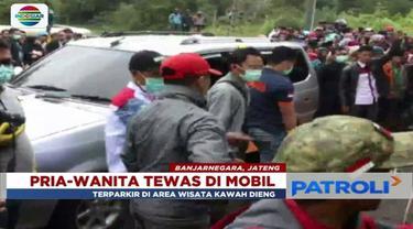 Warga di Kabupaten Banjarnegara, Jawa Tengah, digegerkan penemuan dua sosok mayat di dalam mobil.