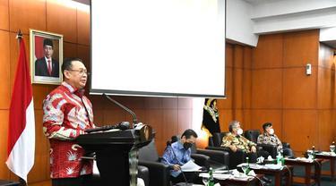 Bamsoet dalam keynote speech FGD 'RCEP Dalam Perspektif UUD NRI 1945', kerjasama MPR RI dengan BS Center,