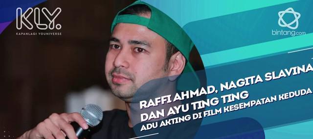 Jadi Produser sekaligus Aktor di film kesempatan Keduda, Raffi Ahmad mengaku senang main film bersama istri lagi.