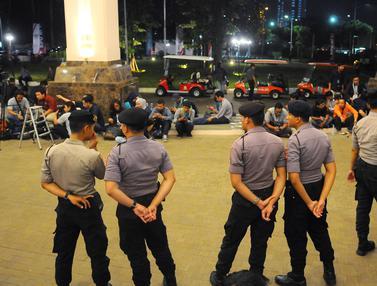Pengamanan saat Debat Cawapres di Hotel Sultan
