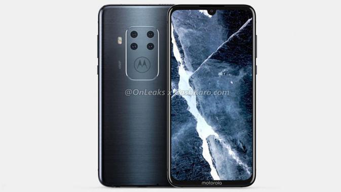Motorola bakal luncurkan smartphone dengan empat kamera utama. (Doc: OnLeaks / CashKaro)