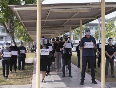 Ratusan Dokter Mogok Kerja Saat COVID-19 Melonjak di Malaysia