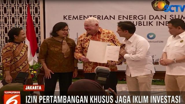 Kesepakatan tersebut sudah ditandatatangani Kamis sore di Gedung Kementerian Energi dan Sumber Daya Mineral.