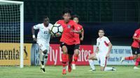 Duel Yordania vs Korsel di matchday kedua Grup C Piala AFC U-19 2018 di Stadion Patriot Candrabhaga, Bekasi (22/10/2018). (Bola.com/Dok. AFC)