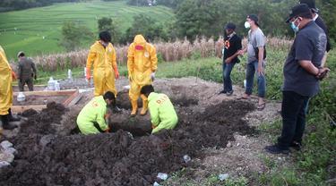 Jenazah Covid-19 hilang di TPU Bilalangnge, Parepare (Liputan6.com/Fauzan)