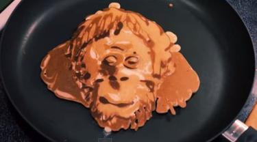 Kue Pancake Orangutan jadi Viral di YouTube