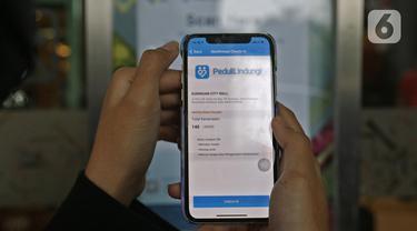 Pengunjung Mal Wajib Scan QR Code Aplikasi PeduliLindungi