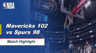Berita Video Highlights NBA 2019-2020, Dallas Mavericks Vs San Antonio Spurs 102-98