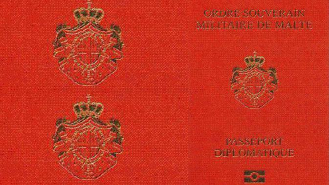 Paspor langka dari The Sovereign Military Order of Malta. (Dokumentasi The  Sovereign Military Order 3466682725582