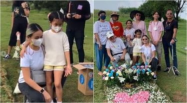 7 Momen Joanna Alexandra Bersama Anak Ziarah Ke Makam Raditya Oloan, Penuh Haru